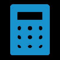 Calculatrice-blue